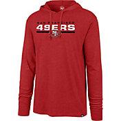 '47 Men's San Francisco 49ers Club Red Hooded Long Sleeve Shirt