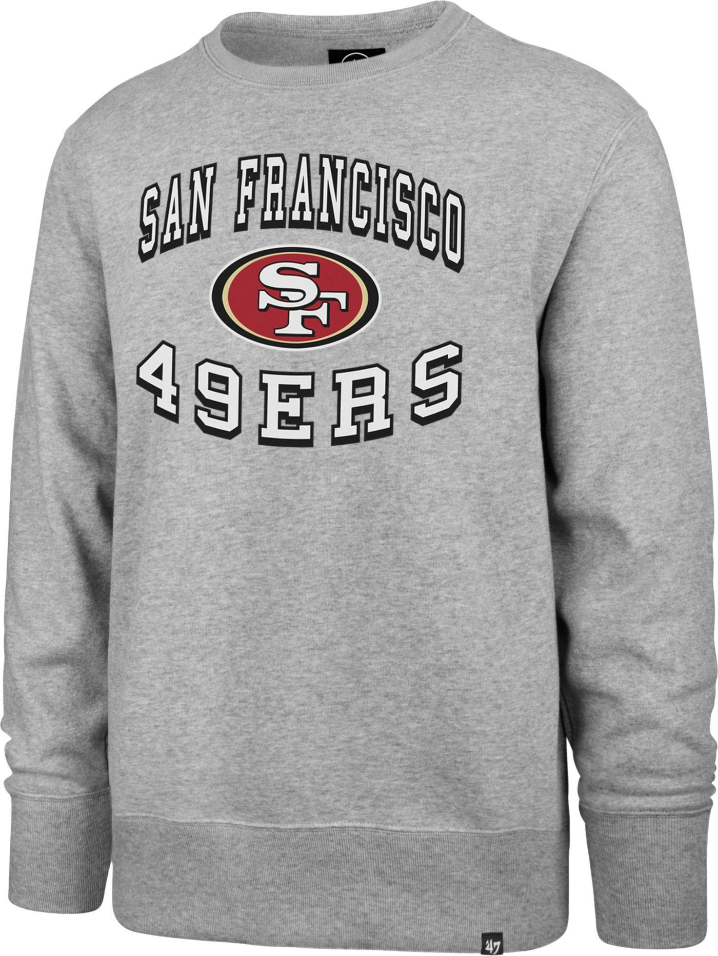 '47 Men's San Francisco 49ers Headline Grey Crew