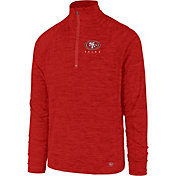 '47 Men's San Francisco 49ers Impact Red Quarter-Zip Pullover