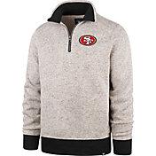 '47 Men's San Francisco 49ers Oatmeal Kodiak Quarter-Zip