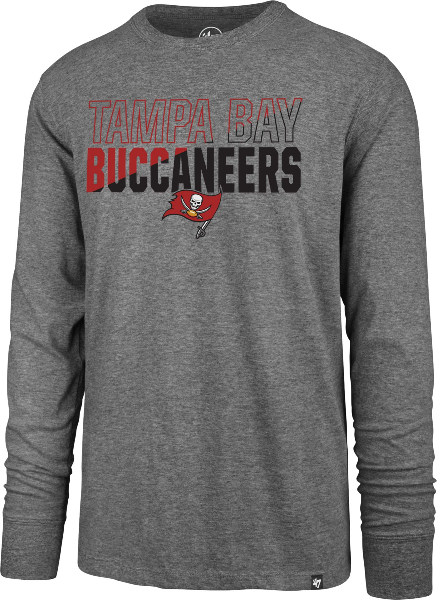 '47 Men's Tampa Bay Buccaneers Club Long Sleeve Grey Shirt