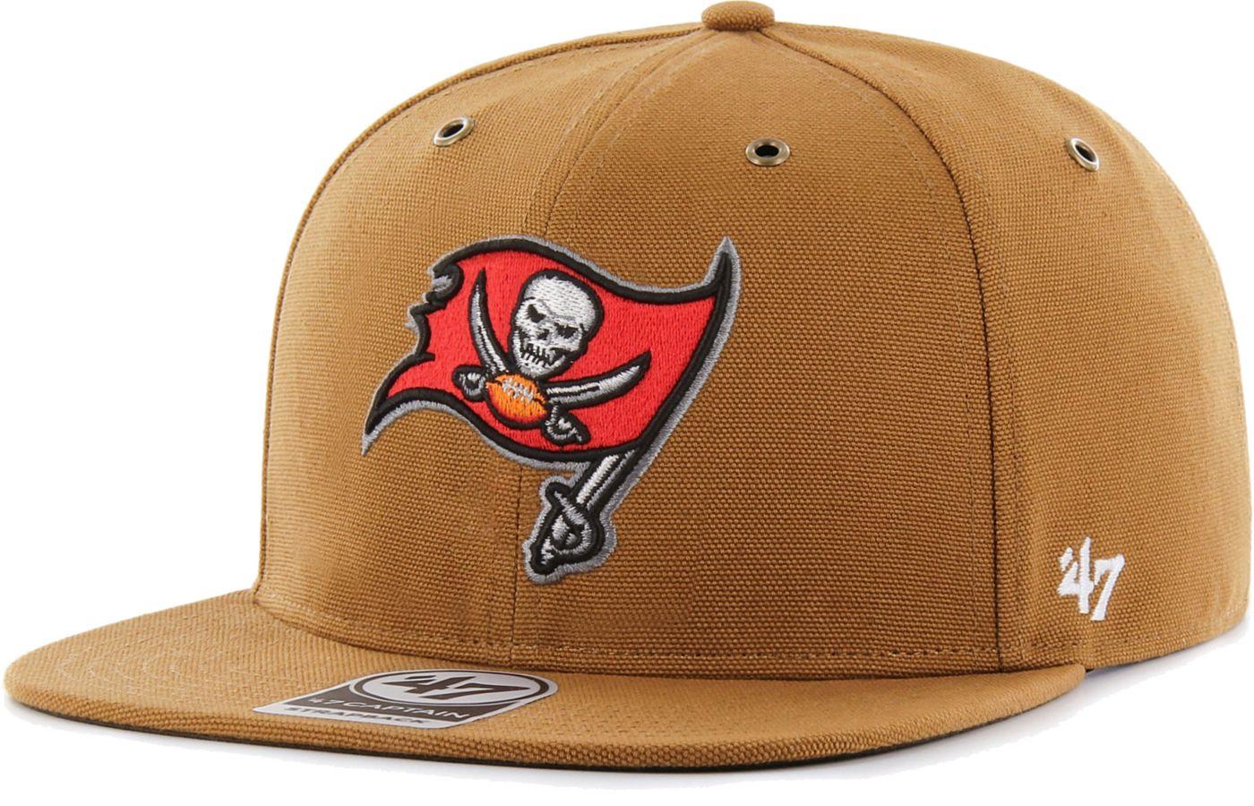 '47 Men's Tampa Bay Buccaneers Carhartt Captain Adjustable Brown Hat
