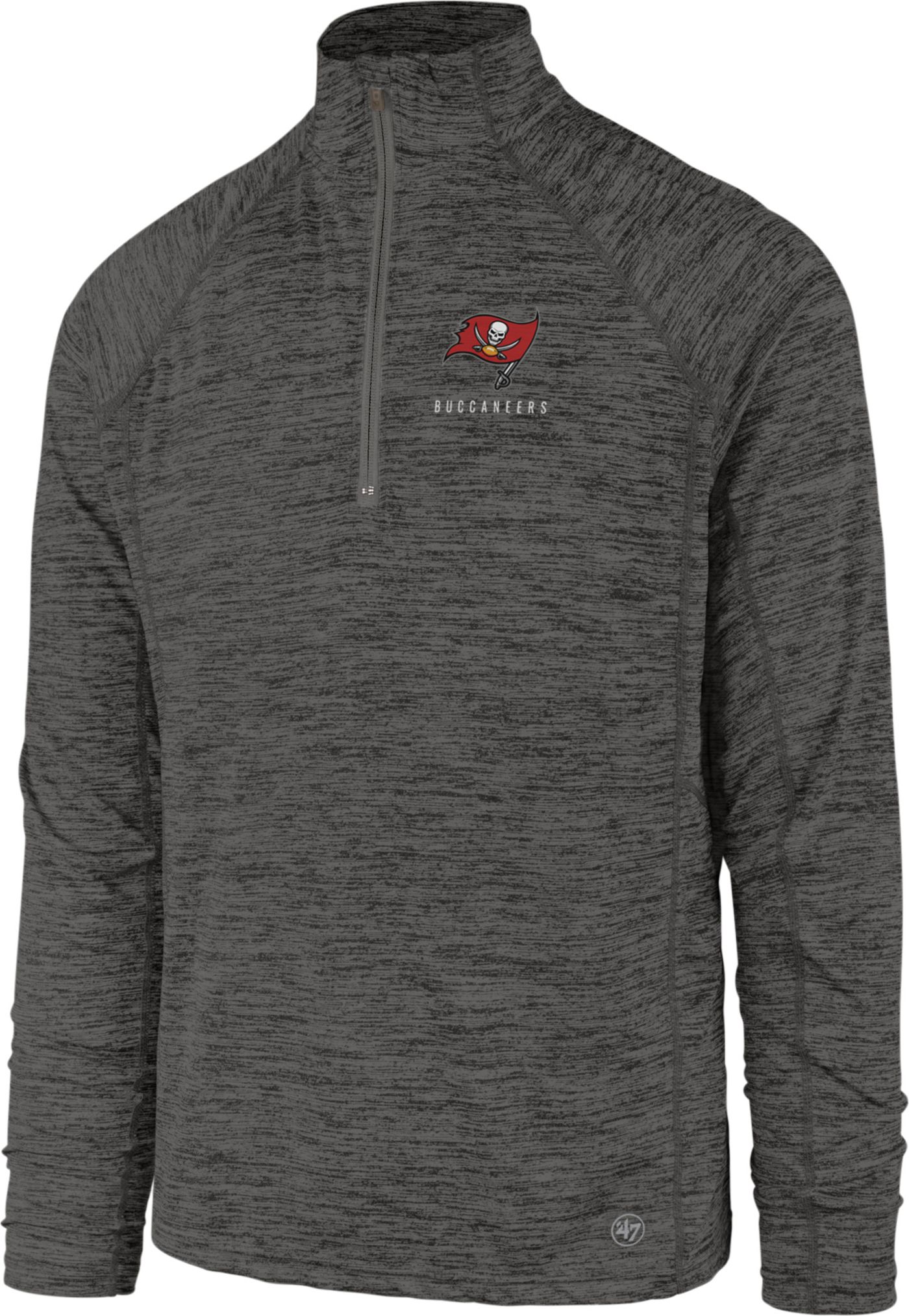 '47 Men's Tampa Bay Buccaneers Impact Grey Quarter-Zip Pullover