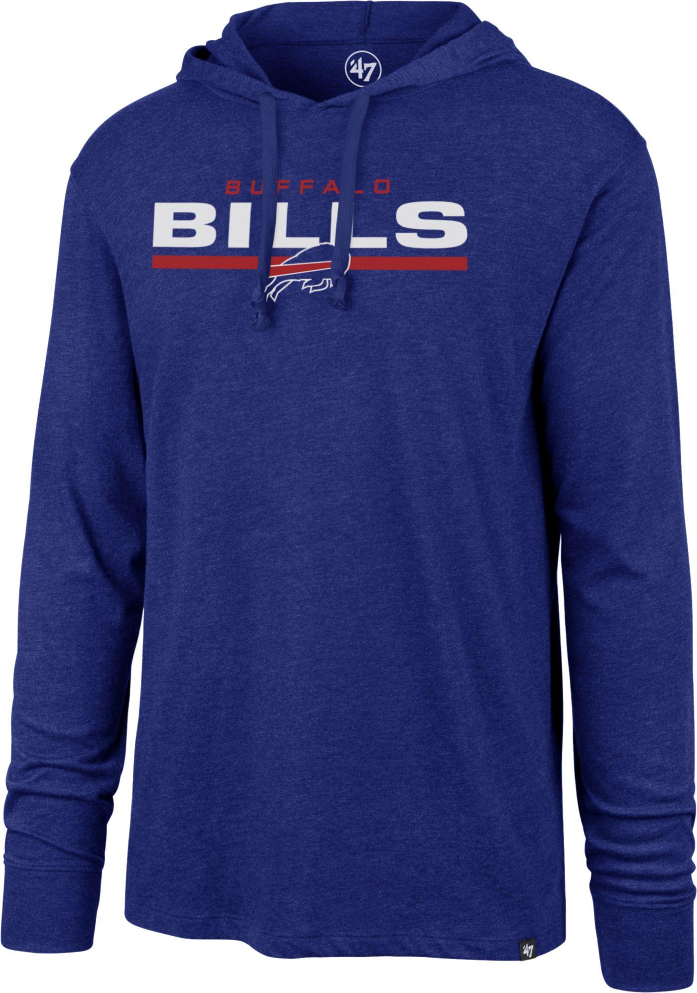 '47 Men's Buffalo Bills Club Royal Hooded Long Sleeve Shirt