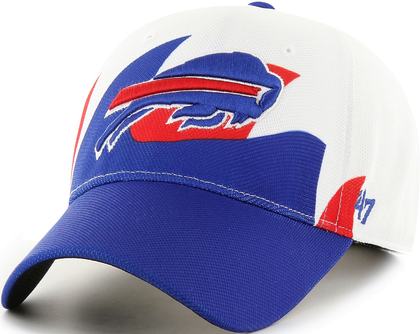 '47 Men's Buffalo Bills Wave Solo White Stretch Fit Hat