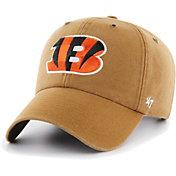 '47 Men's Cincinnati Bengals Carhartt Clean Up Adjustable Brown Hat