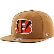 '47 Men's Cincinnati Bengals Carhartt Captain Adjustable Brown Hat