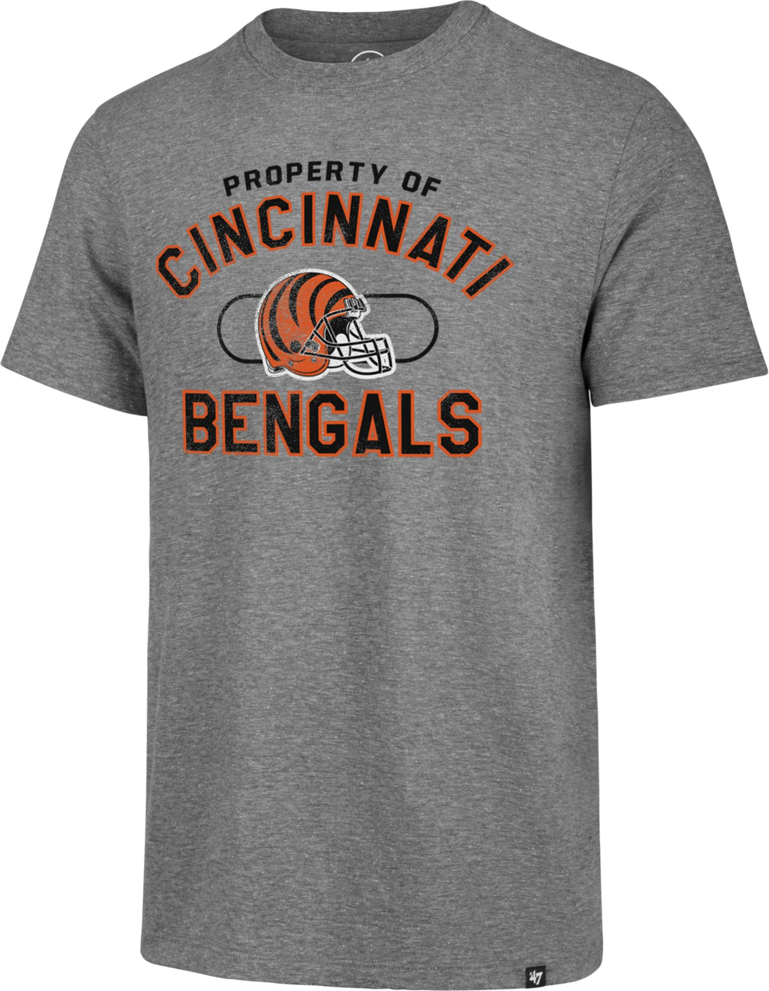 8854b1ce '47 Men's Cincinnati Bengals Match Grey T-Shirt