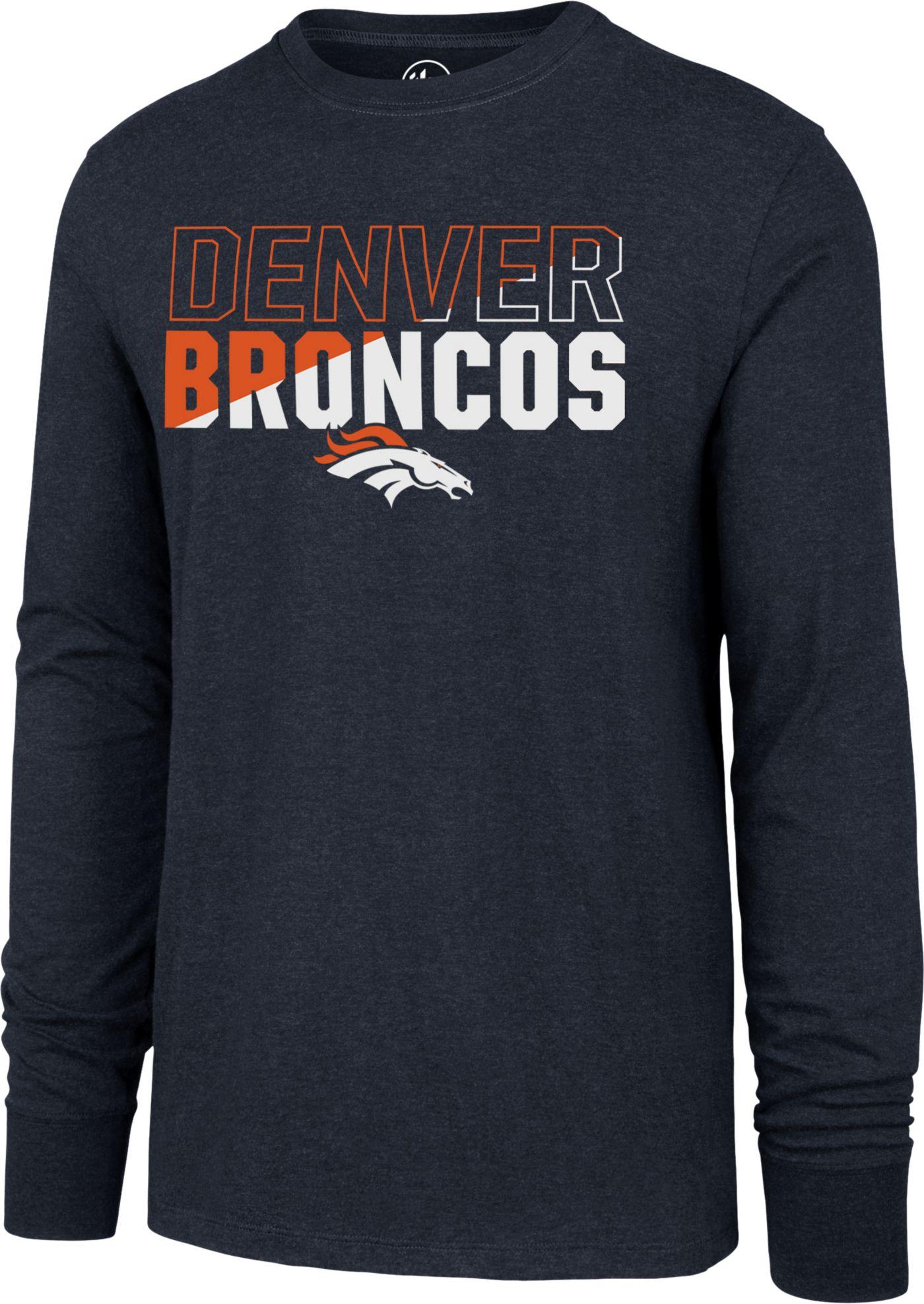 '47 Men's Denver Broncos Club Long Sleeve Navy Shirt