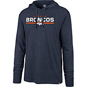 '47 Men's Denver Broncos Club Navy Hooded Long Sleeve Shirt
