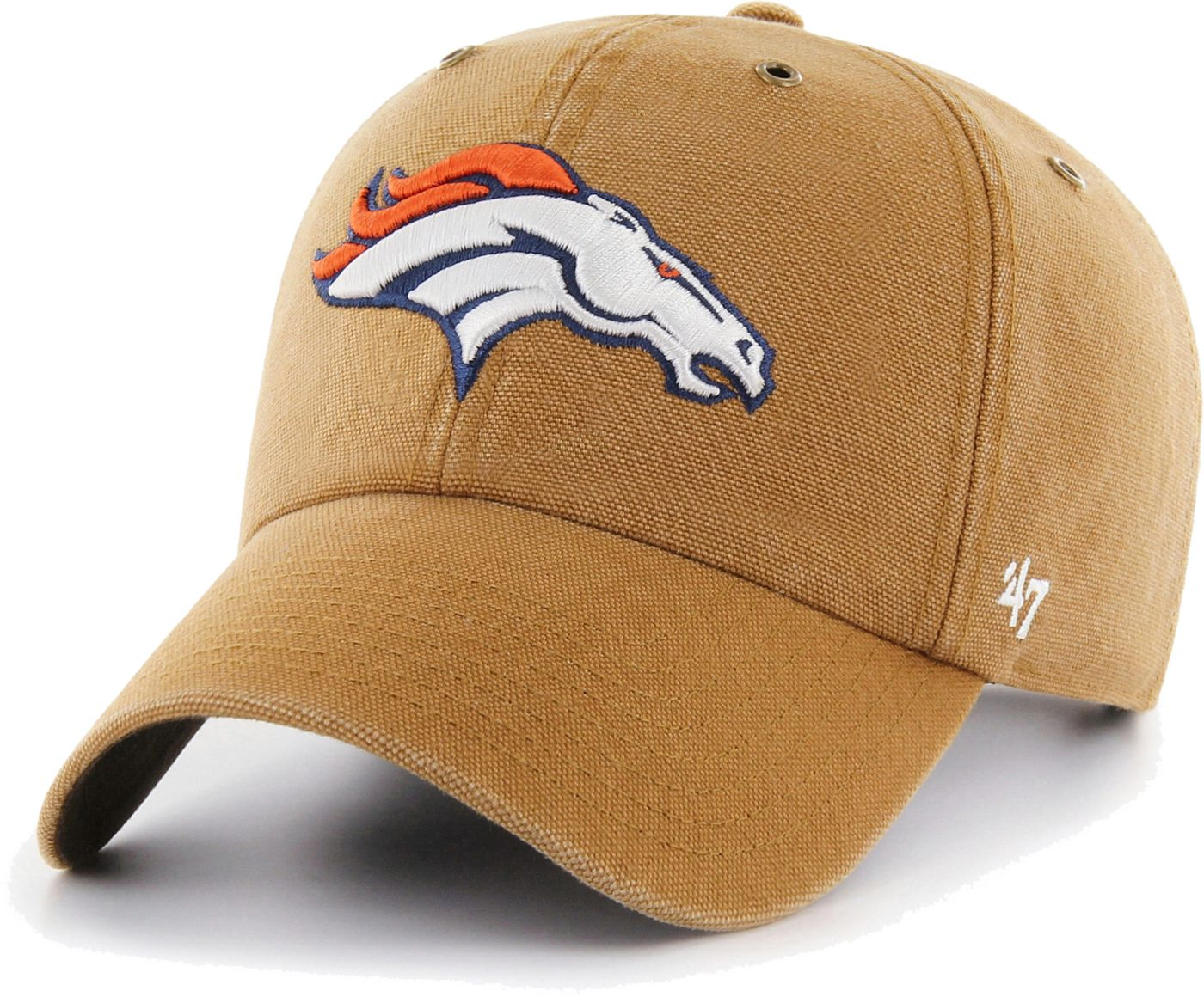 '47 Men's Denver Broncos Carhartt Clean Up Adjustable Brown Hat
