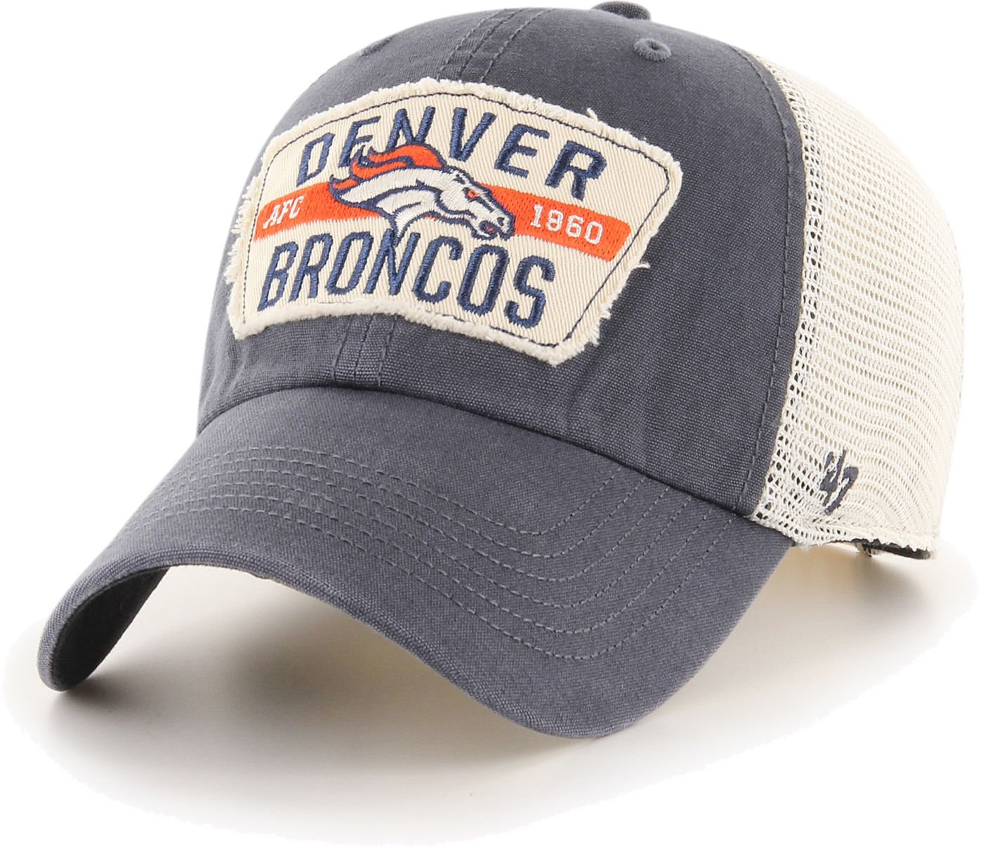 '47 Men's Denver Broncos Crawford Clean Up Adjustable Navy Hat