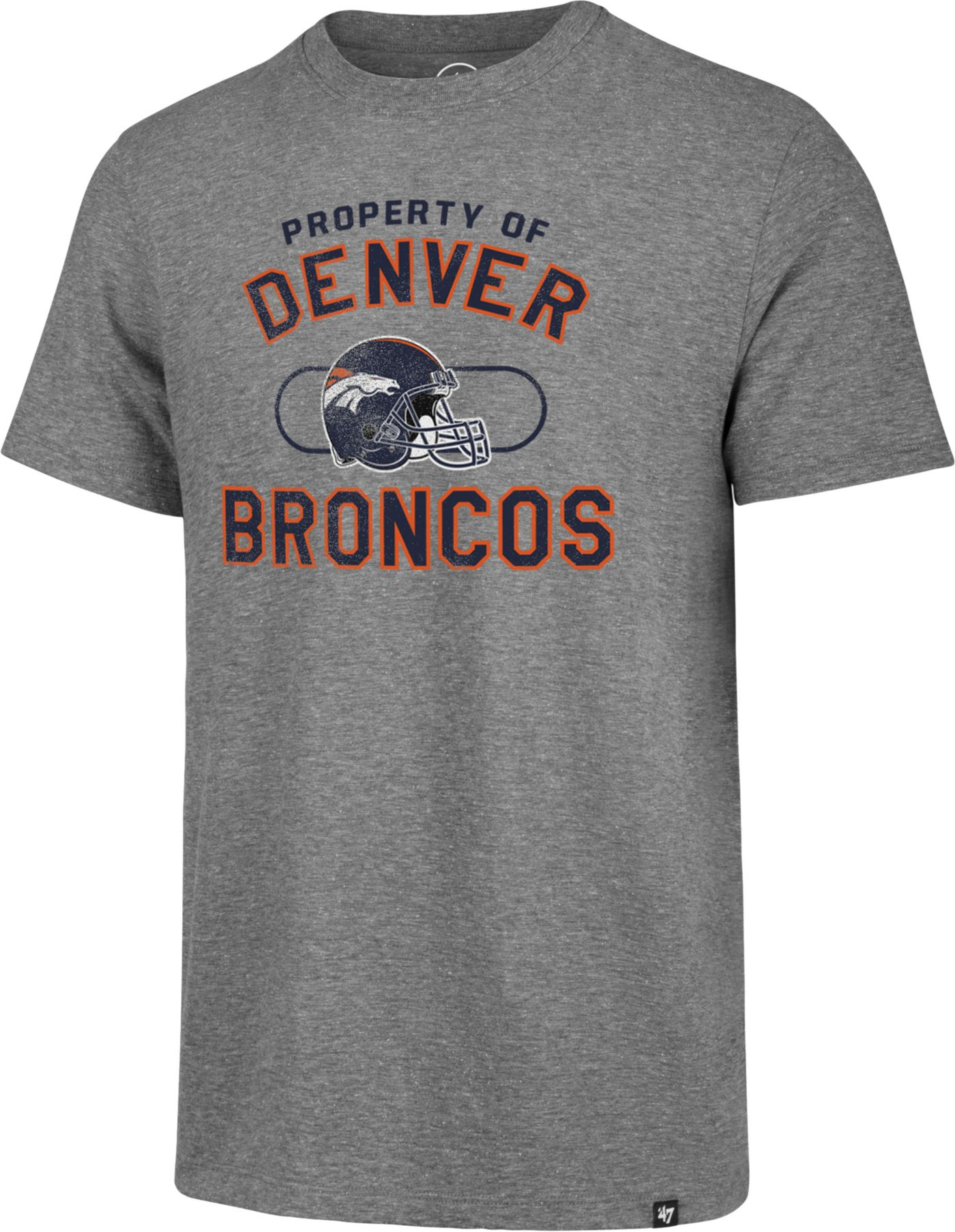 '47 Men's Denver Broncos Match Grey T-Shirt