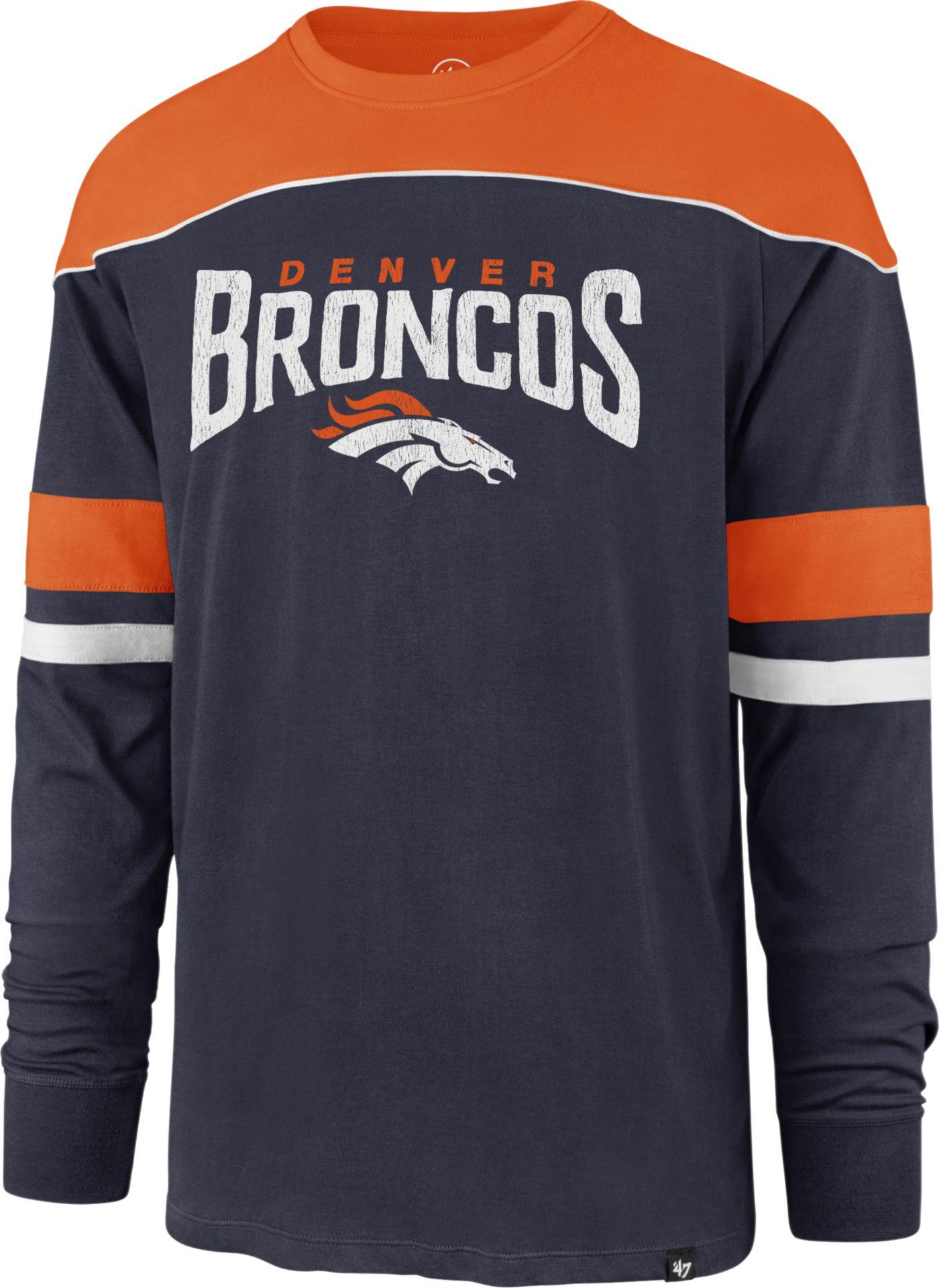'47 Men's Denver Broncos Win Streak Navy Long Sleeve Shirt