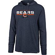 '47 Men's Chicago Bears Club Navy Hooded Long Sleeve Shirt