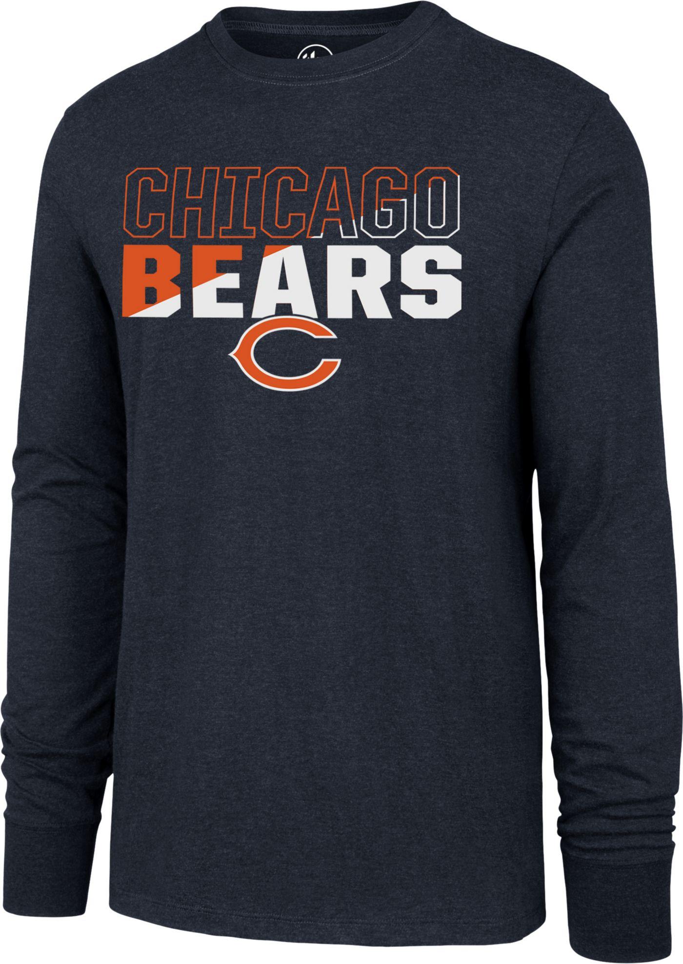 '47 Men's Chicago Bears Club Long Sleeve Navy Shirt