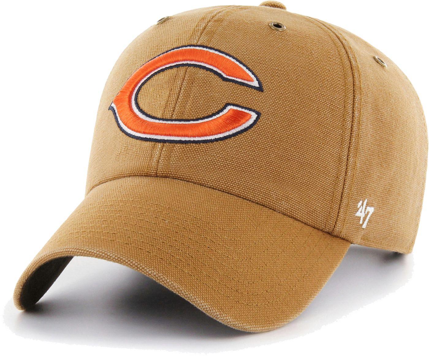 '47 Men's Chicago Bears Carhartt Clean Up Adjustable Brown Hat