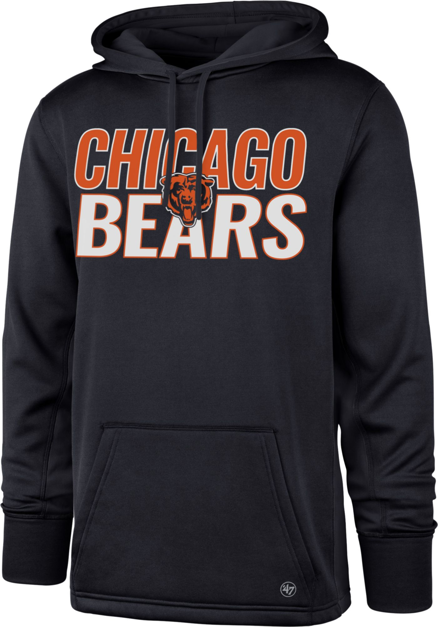 '47 Men's Chicago Bears Tech Fleece Navy Performance Hoodie