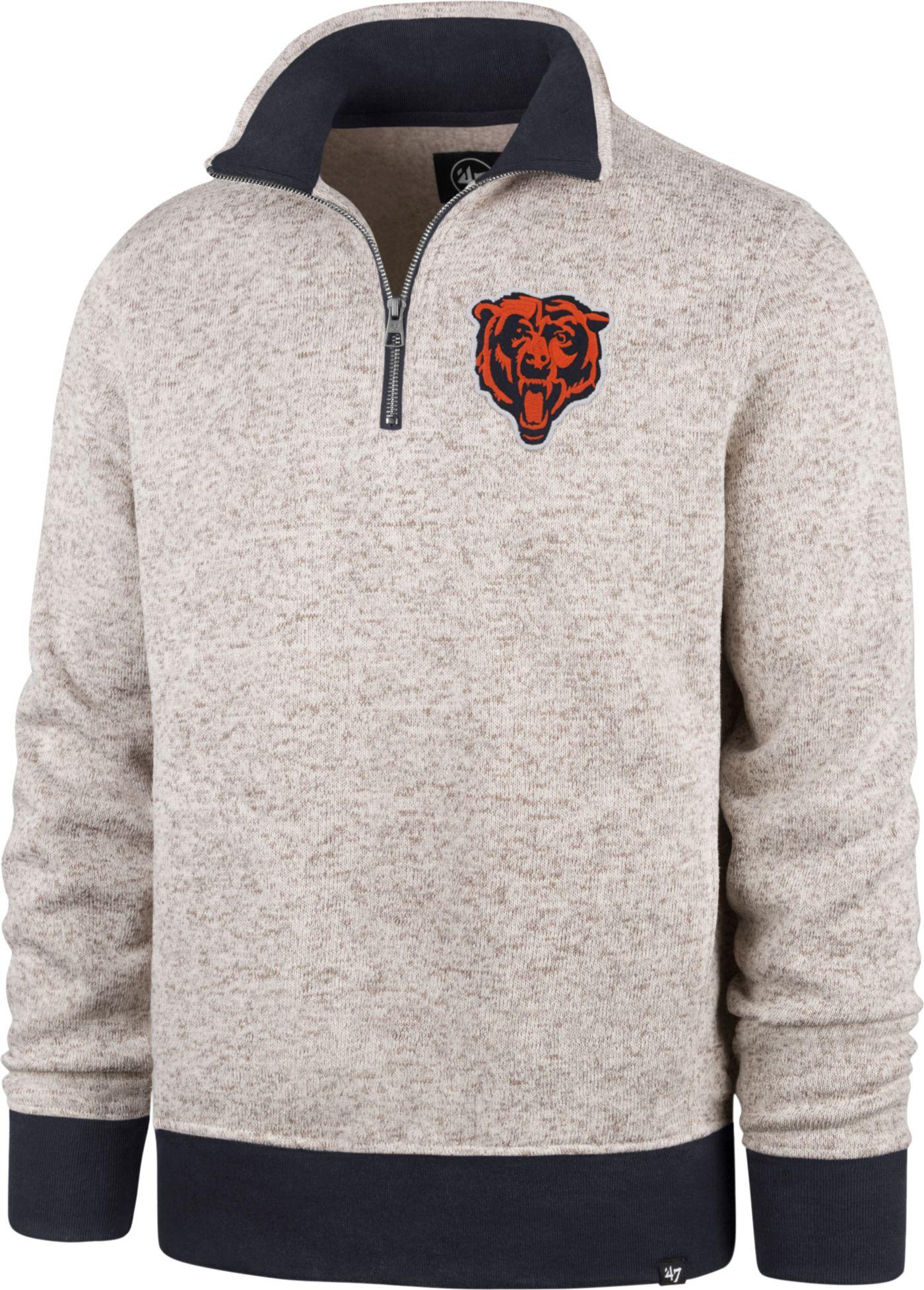 '47 Men's Chicago Bears Oatmeal Kodiak Quarter-Zip