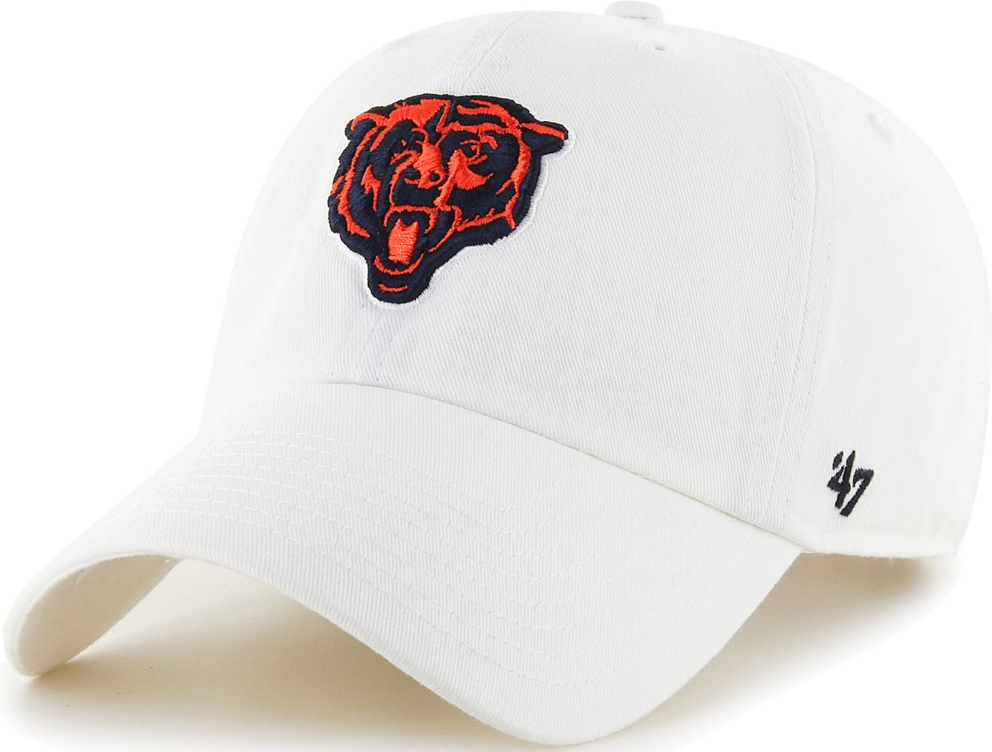 '47 Men's Chicago Bears Clean Up White Adjustable Hat