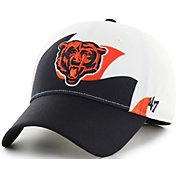 '47 Men's Chicago Bears Wave Solo White Stretch Fit Hat