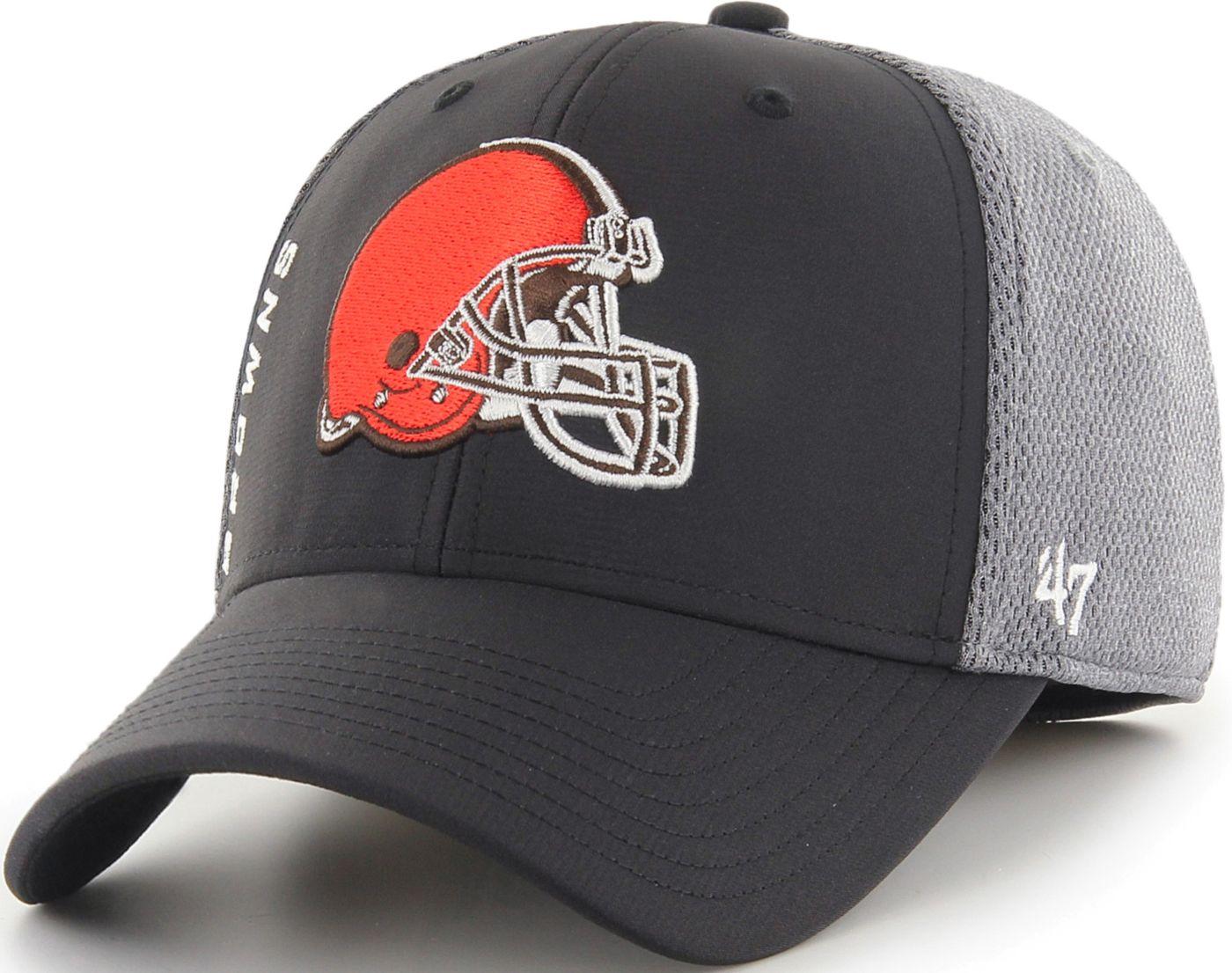 '47 Men's Cleveland Browns Wycliff Contender Stretch Fit Black Hat