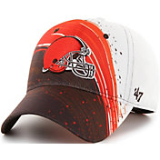 '47 Men's Cleveland Browns Splash Solo Brown Stretch Fit Hat