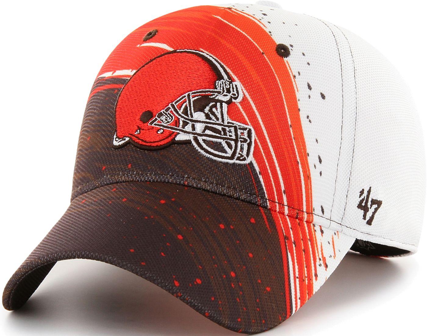 '47 Men's Cleveland Browns Splash Solo Brown Stretch Fit Hat