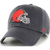 '47 Men's Cleveland Browns Clean Up Adjustable Charcoal Hat
