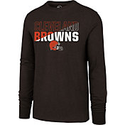 '47 Men's Cleveland Browns Club Long Sleeve Brown Shirt