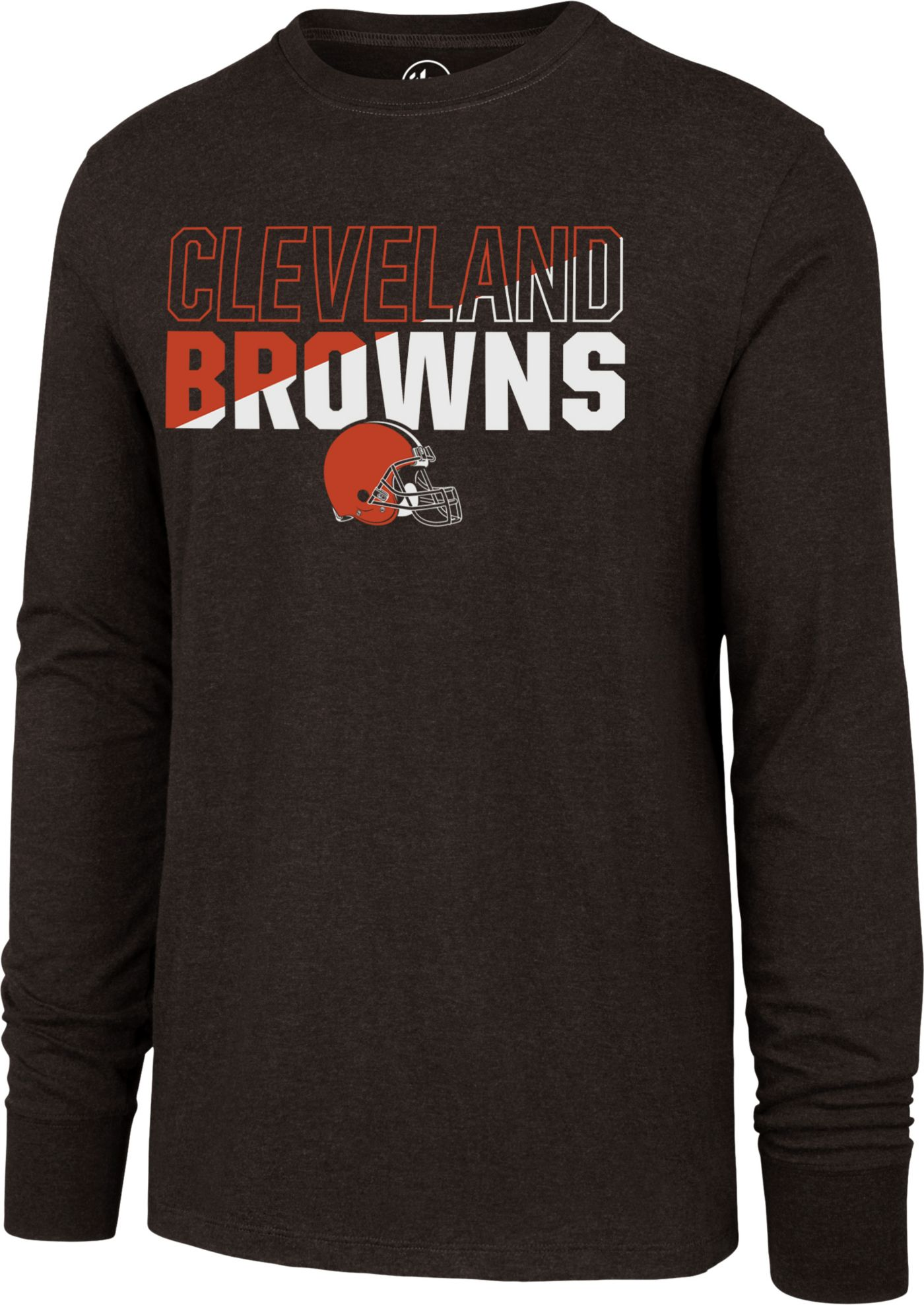 '47 Men's Cleveland Browns Club Long Sleeve Brown Shirt