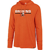 '47 Men's Cleveland Browns Club Legacy Orange Hooded Long Sleeve Shirt