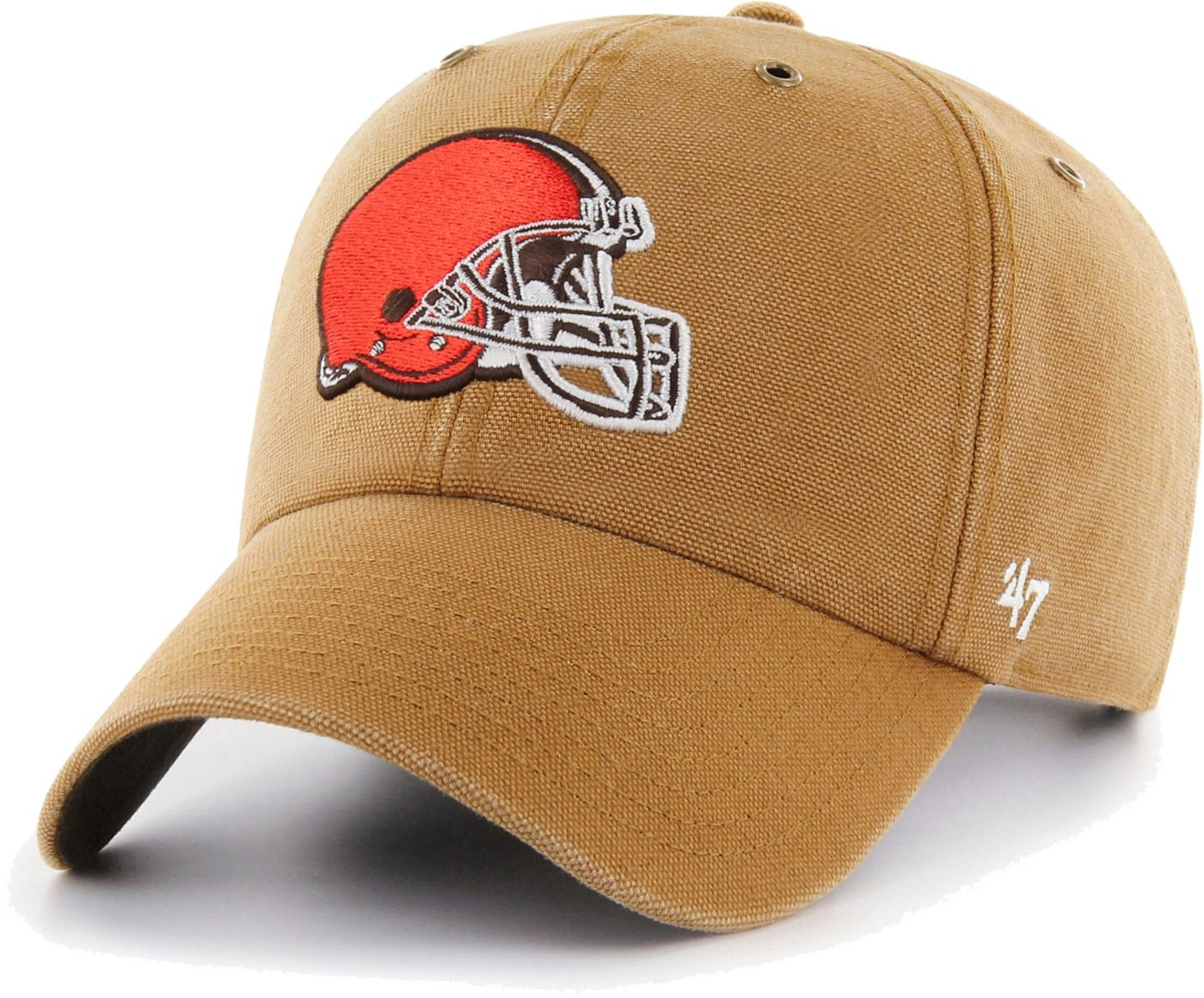 '47 Men's Cleveland Browns Carhartt Clean Up Adjustable Brown Hat