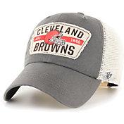 '47 Men's Cleveland Browns Crawford Clean Up Adjustable Grey Hat