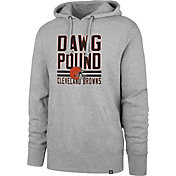 '47 Men's Cleveland Browns Dawgpound Headline Grey Hoodie