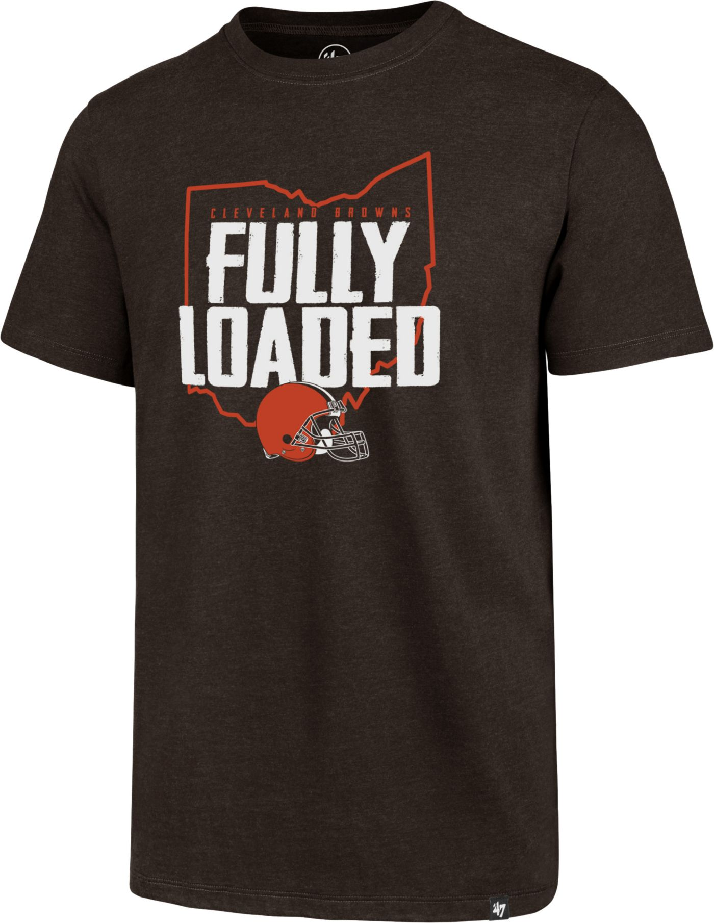 '47 Men's Cleveland Browns Fully Loaded Club Brown T-Shirt