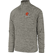 '47 Men's Cleveland Browns Impact Grey Quarter-Zip Pullover