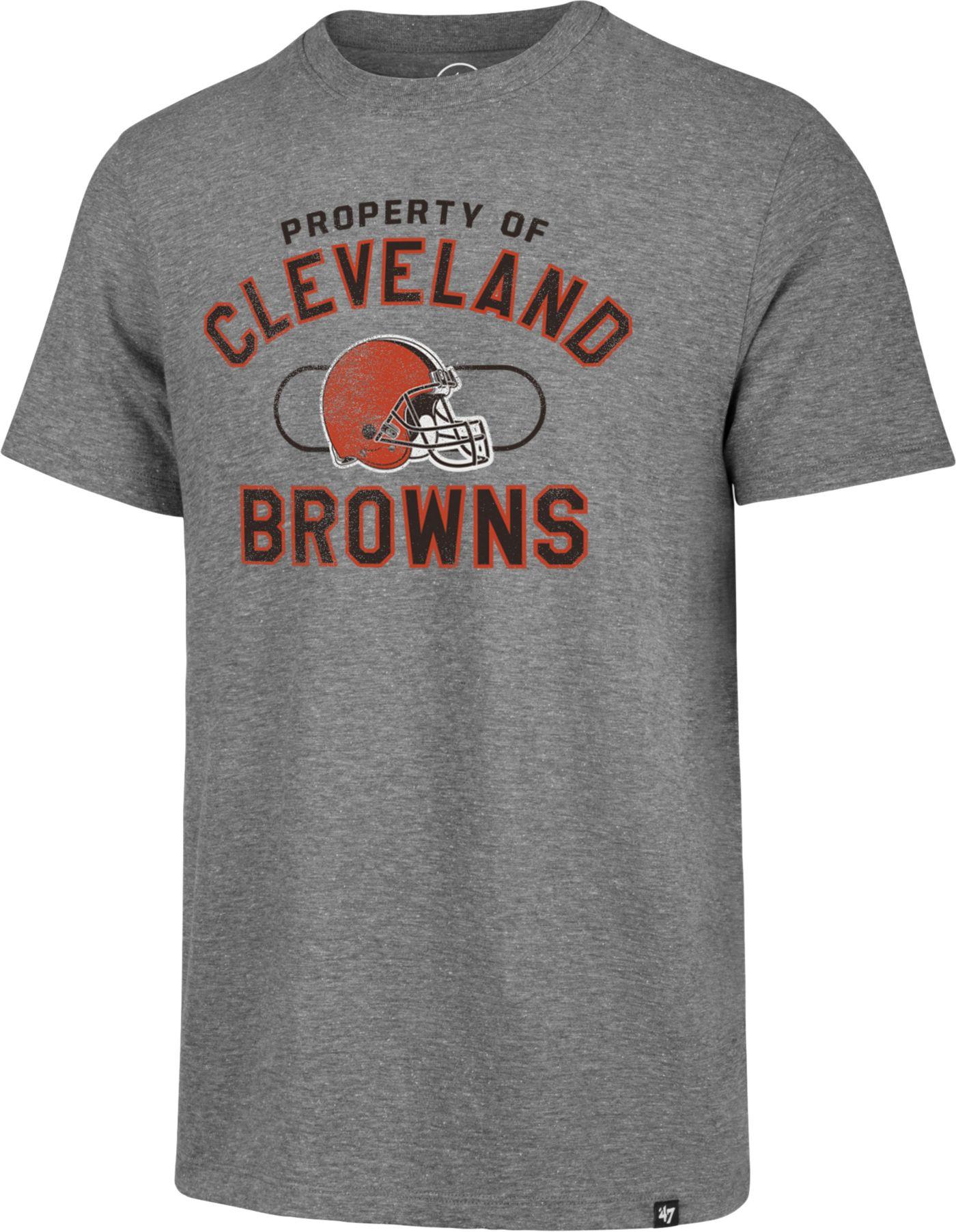 '47 Men's Cleveland Browns Match Grey T-Shirt