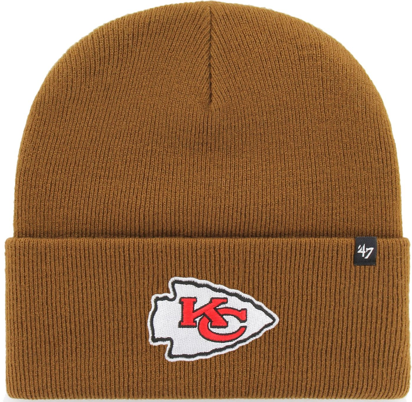 '47 Men's Kansas City Chiefs Carhartt Brown Knit Hat