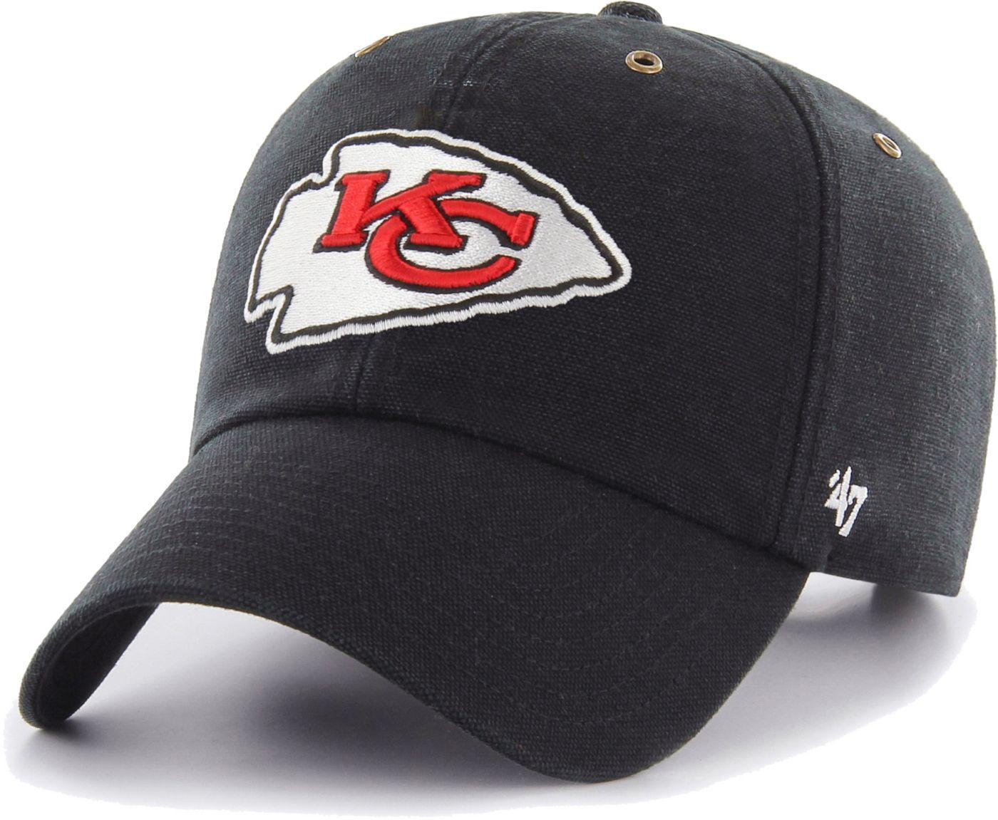 '47 Men's Kansas City Chiefs Carhartt Clean Up Adjustable Black Hat