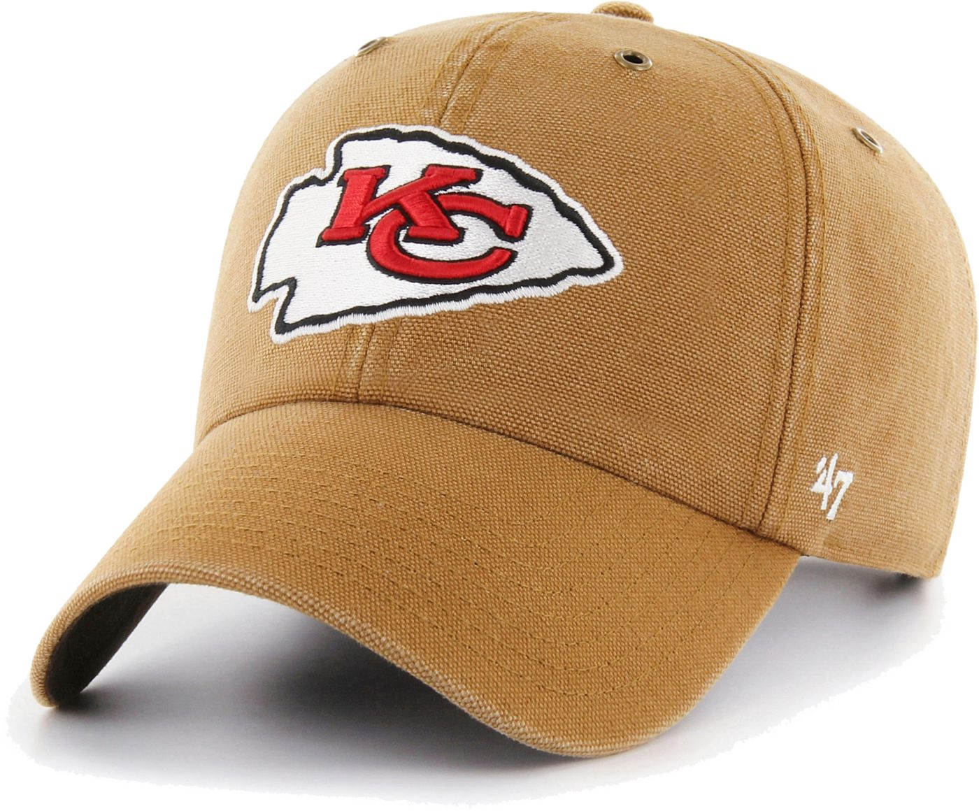 '47 Men's Kansas City Chiefs Carhartt Clean Up Adjustable Brown Hat