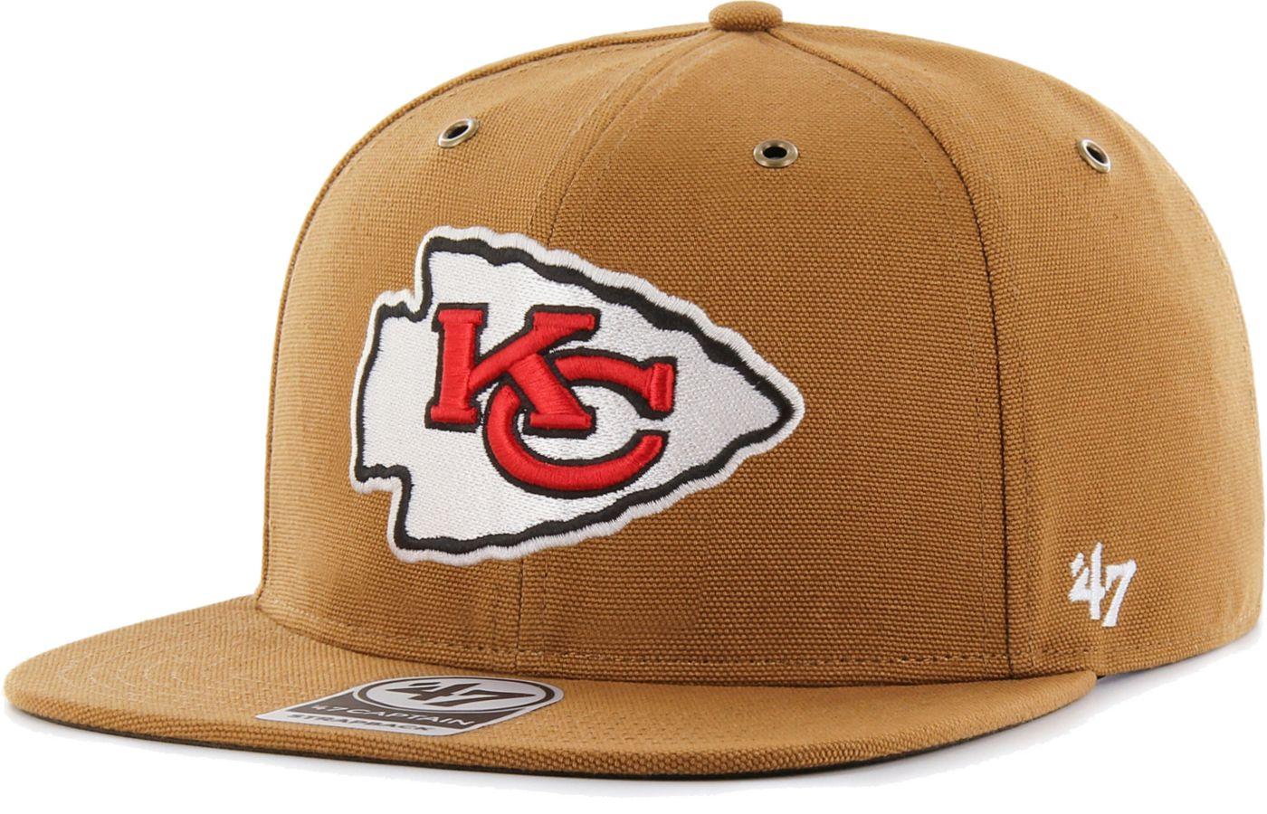 '47 Men's Kansas City Chiefs Carhartt Captain Adjustable Brown Hat