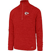 '47 Men's Kansas City Chiefs Impact Red Quarter-Zip Pullover