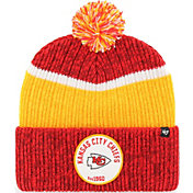 '47 Men's Kansas City Chiefs Holcomb Red Cuffed Pom Knit Hat