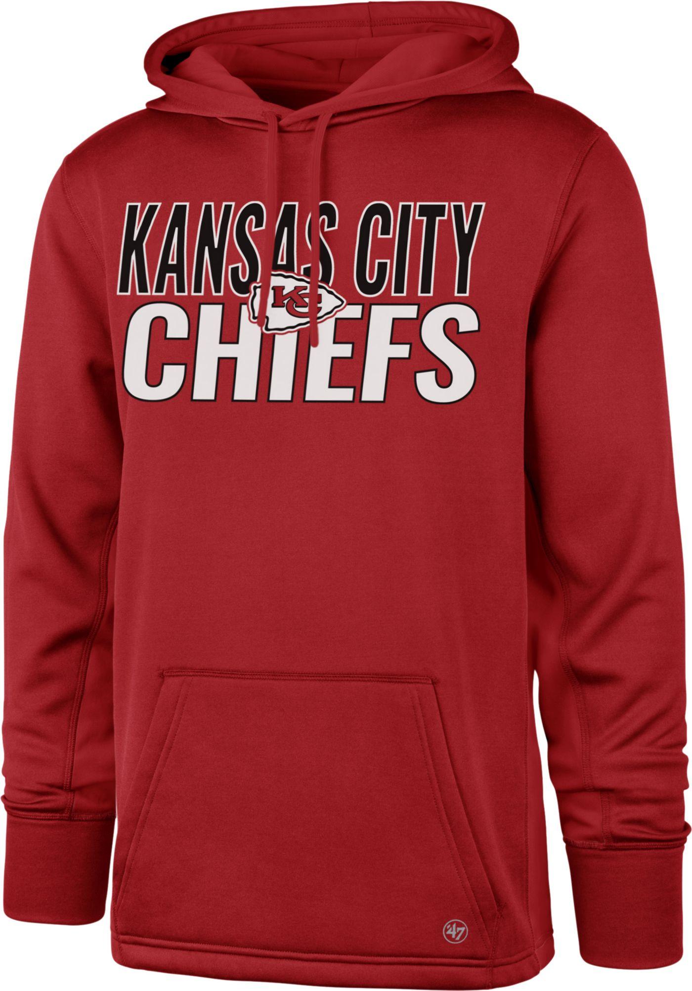 '47 Men's Kansas City Chiefs Tech Fleece Red Performance Hoodie