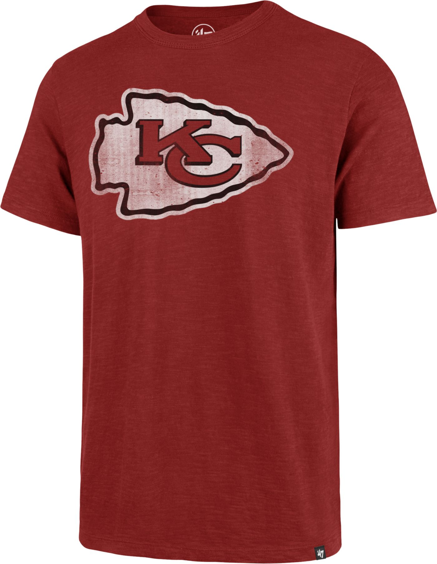 47 Men's Kansas City Chiefs Scrum Logo Red T-Shirt