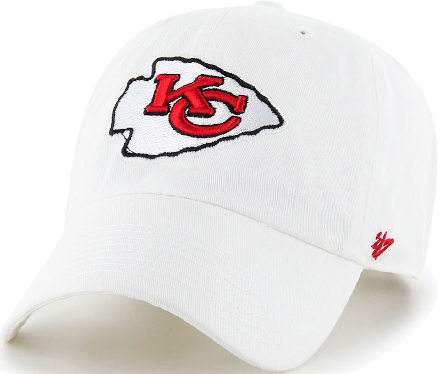 '47 Men's Kansas City Chiefs Clean Up White Adjustable Hat