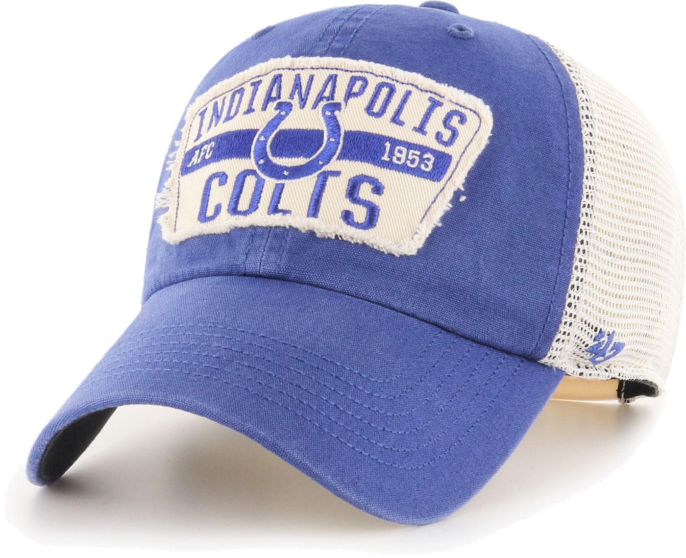 '47 Men's Indianapolis Colts Crawford Clean Up Adjustable Royal Hat