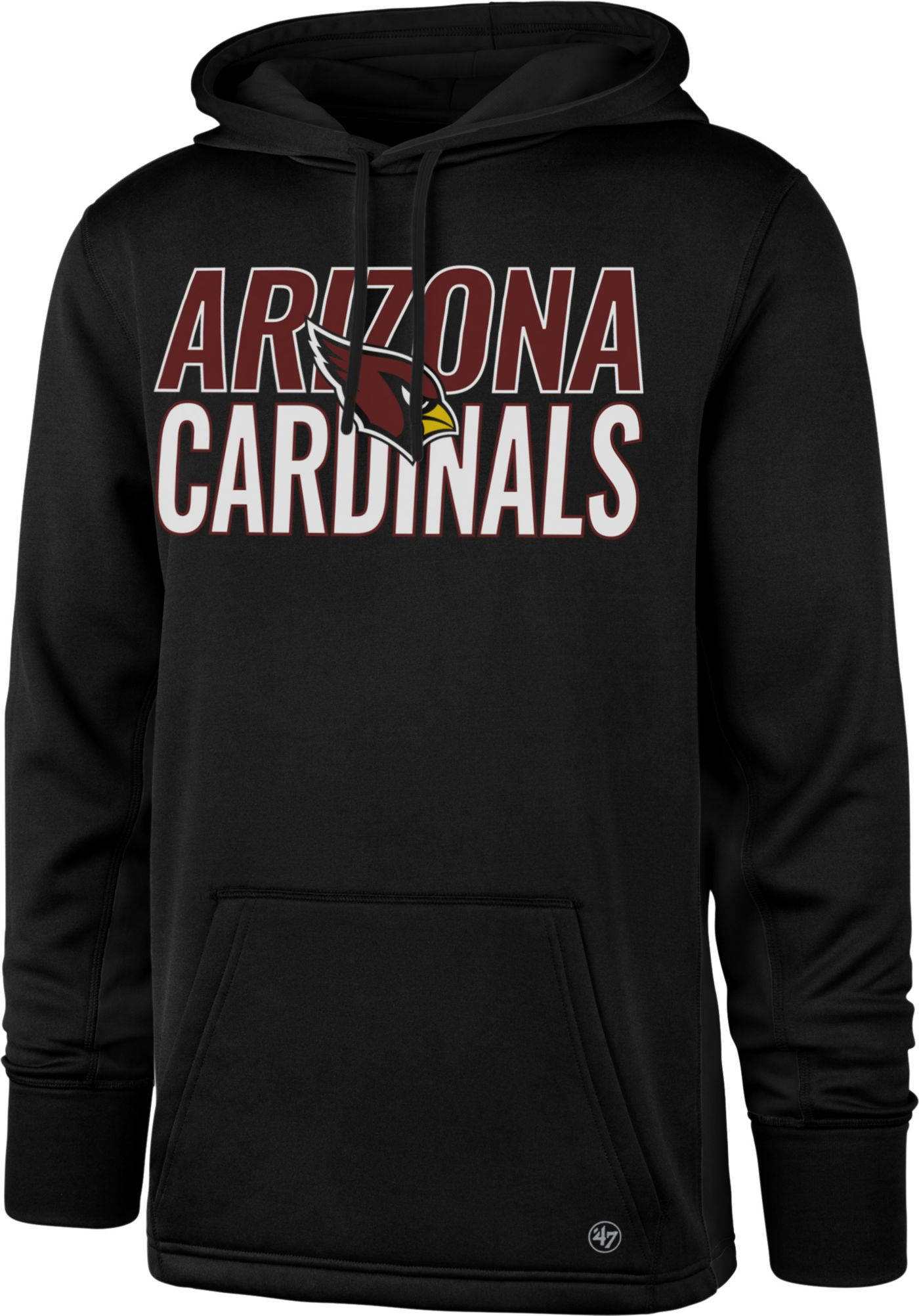 '47 Men's Arizona Cardinals Tech Fleece Black Performance Hoodie