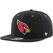 '47 Men's Arizona Cardinals Carhartt Captain Adjustable Black Hat